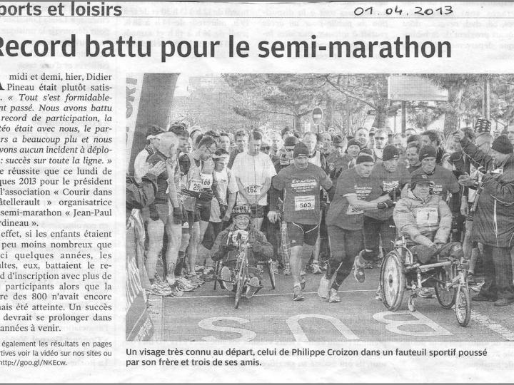 Records battus pour le semi marathon 2013